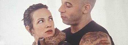 Asia Argento and Vin Diesel in the 2002 film xXx