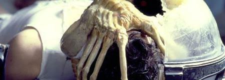 John Hurt is taken over by an Alien in the original 1979 film