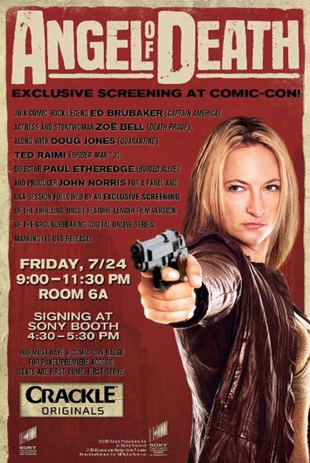 Death Proof Zoe Bell to attend panel & uncut screening for her series Angel of Death at Comic-Con '09