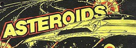 Asteroids arcade game graphic
