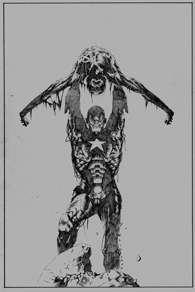 SDCC 09 Dark Avengers Uncanny X-Men Utopia No. 1 Sketch Variant