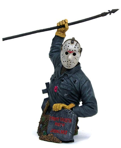 Friday the 13th Jason Voorhees with removable mask bust