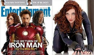 Scarlett Johansson as Black Widow and the Entertainment Weekly cover