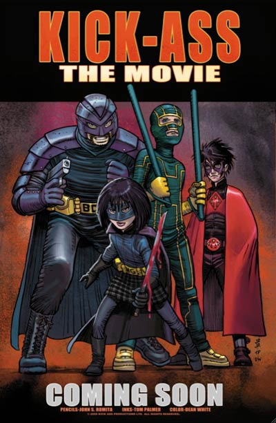 Kick-Ass Comic-Con exclusive movie poster art by John Romita Jr.