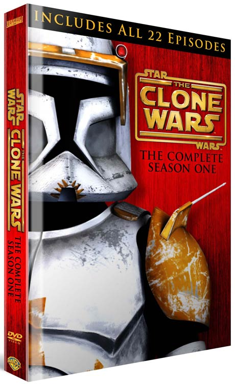 Star Wars: The Clone Wars The Complete Season One DVD box art