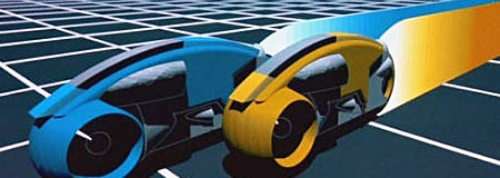 Scene from the original Tron