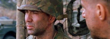 Nicolas Cage in the 2002 John Woo World War 2 epic Windtalkers