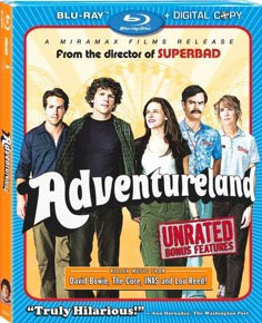 Adventureland Blu-ray packaging