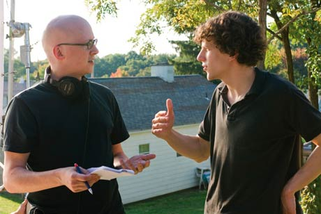 Writer and Director of Adventureland Greg Mottola and star Jesse Eisenberg