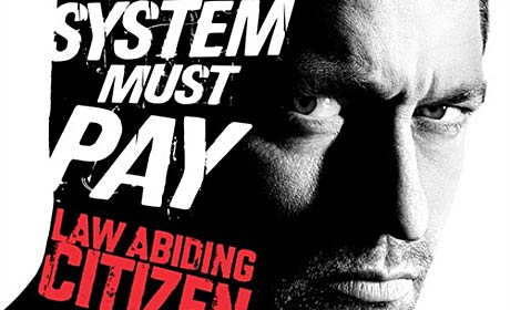 Gerard Butler in poster detail for Law Abiding Citizen