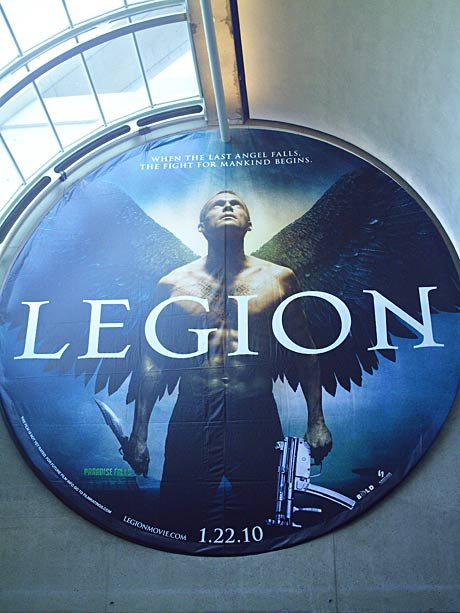 Legion banner at San Diego Comic-Con 2009. Photo by Rene Carson