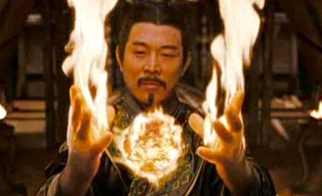 Jet Li as Emperor Han in The Mummy: Tomb of the Dragon Emperor