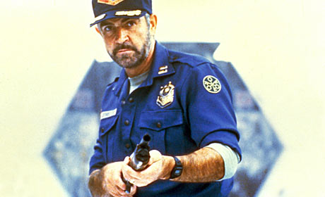 Sean Connery as a space cowboy in the 1981 thriller Outland