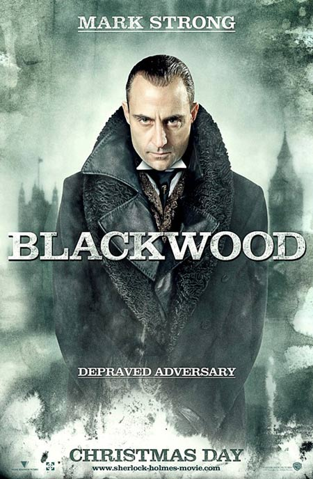 Sherlock Holmes movie poster featuring Mark Strong