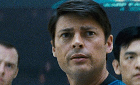 Karl Urban in Star Trek