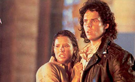 Shawnee Smith and Kevin Dillon in 1988 version of The Blob