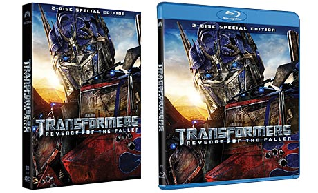 Transformers: Revenge of the Fallen disc packaging