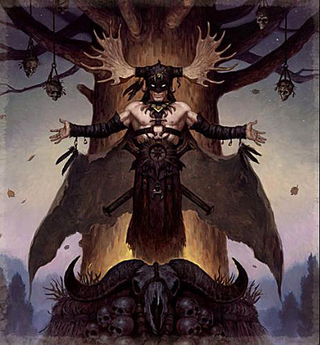 Devil's Rose by Brom interior painting