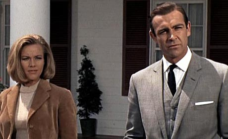 Honor Blackman and Sean Connery in Goldfinger