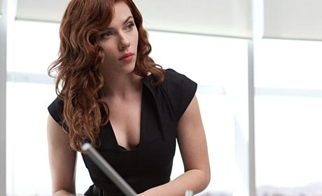 Scarlett Johansson as Black Widow in Iron Man 2