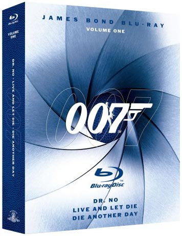 James Bond Blu-ray Collection Three-Pack, Vol. 1 Blu-ray packaging