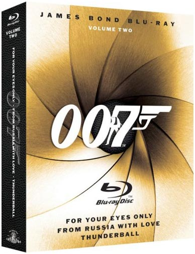 James Bond Blu-ray Collection Three-Pack, Vol. 2 Blu-ray packaging
