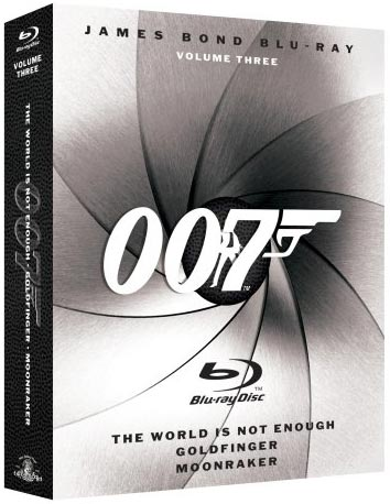 James Bond Blu-ray Collection Three-Pack, Vol. 3 Blu-ray packaging
