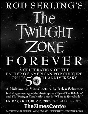 The Twilight Zone Forever 50th Anniversary VisuaLecture at Times Center