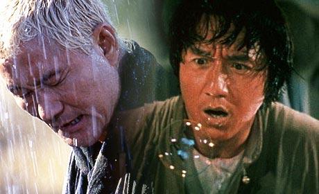 Takeshi Kitano as Zatoichi and Jackie Chan as Wong Fei Hung in Drunken Master 2