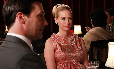 January Jones and Jon Hamm in Mad Men