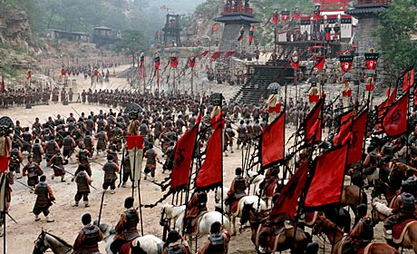 Battle scene from the John Woo film Red Cliff