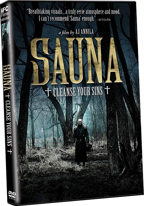Sauna DVD packaging