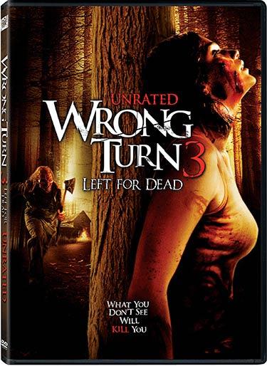 Wrong Turn 3: Left For Dead DVD packaging