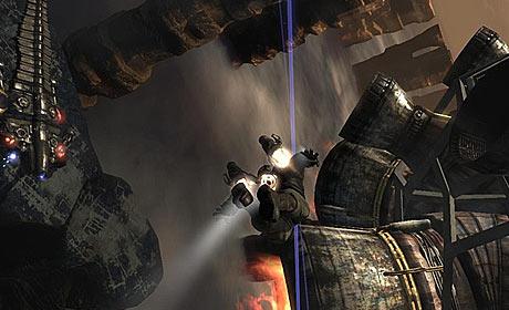 Screenshot from the Dark Void game