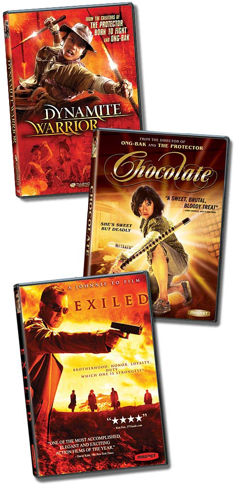 Dynamite Warrior - Chocolate and Exiled DVD packaging