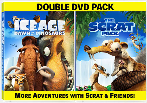 Ice Age 3: Dawn of the Dinosaurs DVD packaging