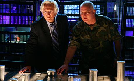 Bruce Davison and Jack P. Downing in Megafault