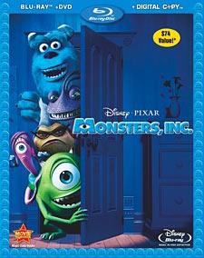 Monsters Inc Blu-ray package art