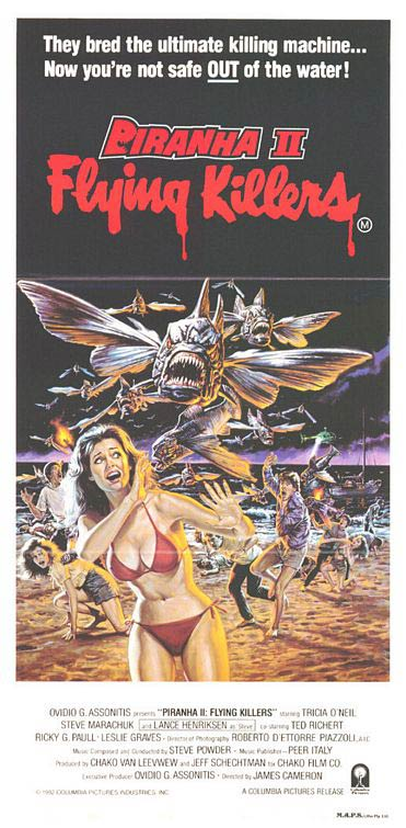 Piranha 2 movie poster
