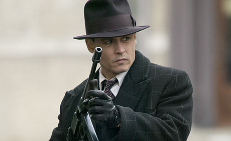 Johnny Depp in the Michael Mann film Public Enemies