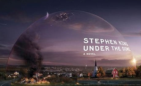 Cover for hardcover edition of Stephen King book Under the Dome