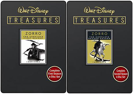 Walt Disney Treasures Wave IX Zorro The Complete First and Second Seasons DVD packaging
