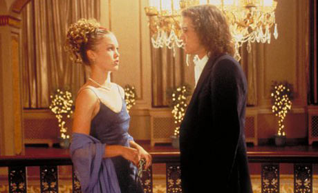 Julia Stiles and Heath Ledger in 10 Things I Hate About You
