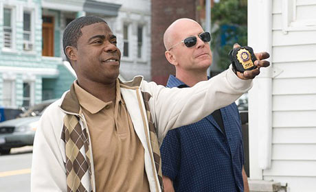 Tracy Morgan and Bruce Willis in Cop Out