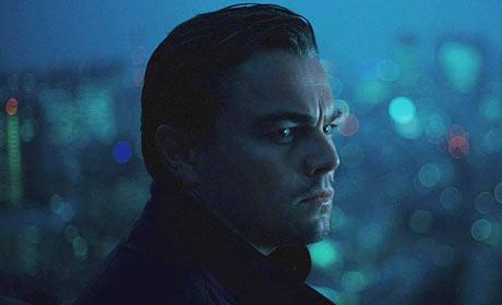 Leonardo DiCaprio in a scene from the upcoming sci-fi thriller Inception
