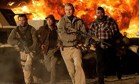 Bradley Cooper - Sharlto Copley - Quinton Rampage Jackson and Liam Neeson are The A-Team