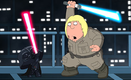 A scene from Family Guy: Something Something Something Dark Side