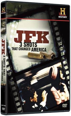 JFK: 3 Shots That Changed America DVD packaging