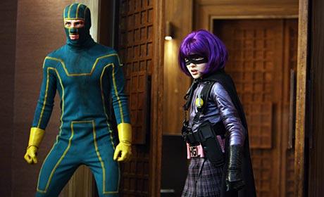 Aaron Johnson as Kick-Ass and Chloe Moretz as Hit-Girl in Kick-Ass