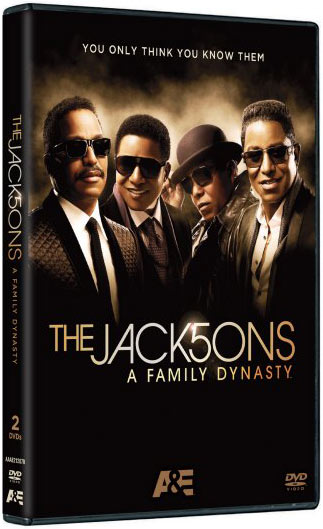 The Jacksons: A Family Dynasty DVD packaging